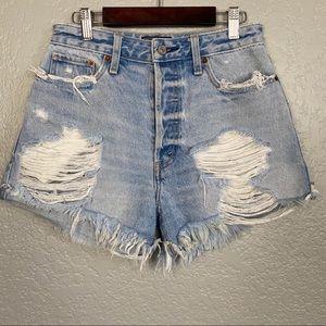 Abercrombie & Fitch High Waist Shorts Sz 25